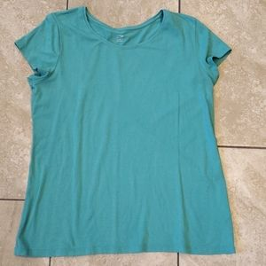 3/$12 basic teal short sleeve top apt. 9
